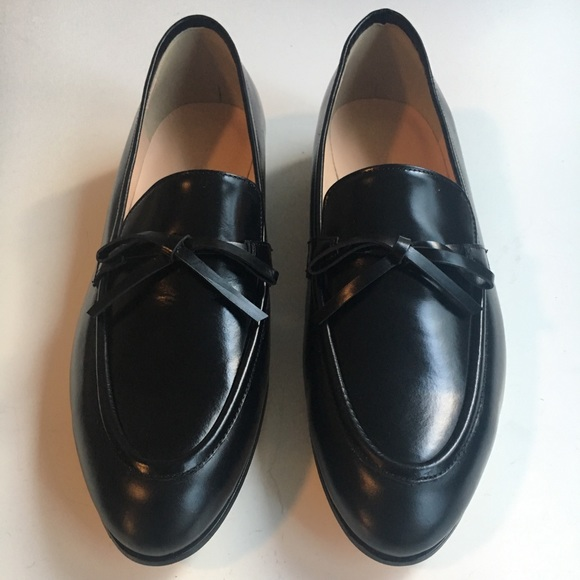 8e39bfb2917 J Crew academy loafers in leather - black